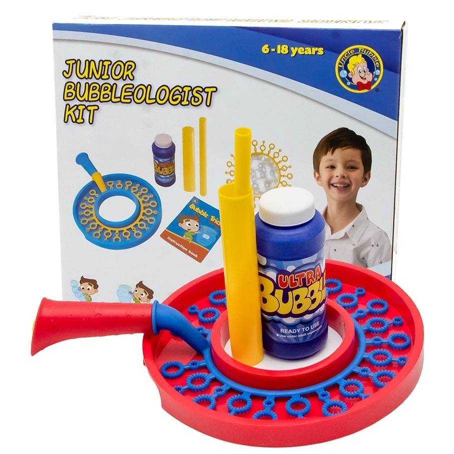 Uncle Bubble Junior Bubble Kit. Bubble Wand with 236 Milliliter Bubble Solution. Kids Bubble Toy