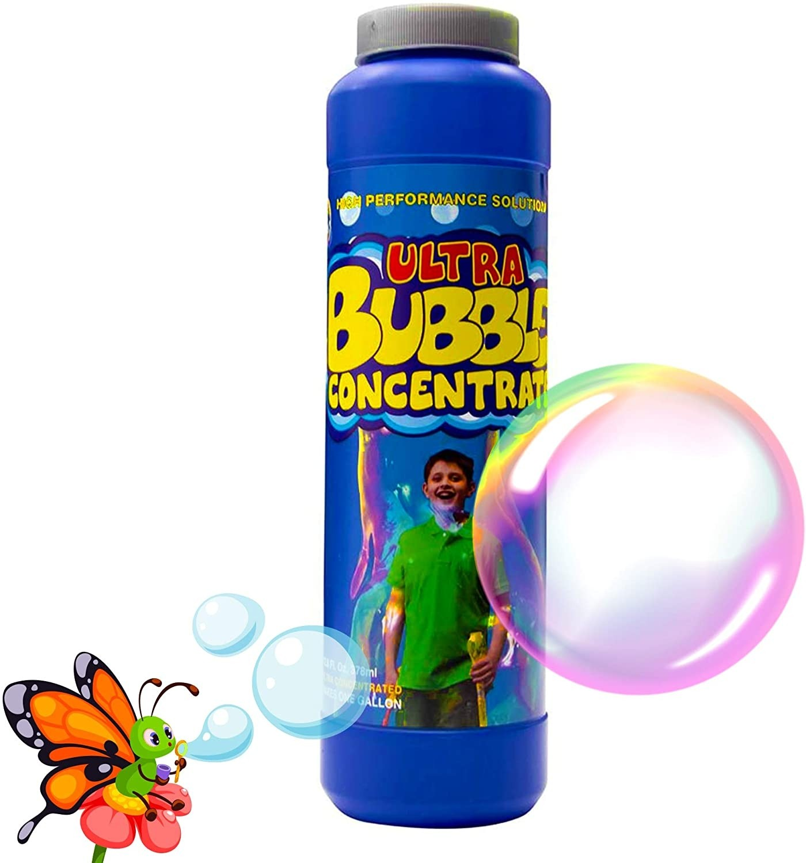 Uncle Bubble Bubble Concentrate Solution 378 Millilitres (12 Fluid Ounce) Make 3.78 litres of Bubble Solution for Giant Bubble Wands, Bubble Machines, Bubble blowers