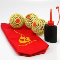 3 x Fyrefli Fire Juggling Balls & Carry Bag - 80mm
