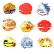Furry Animal Contact Ball Bags