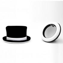 Juggle Dream Manipulator TOP Hat - White Trim and White Felt Inside