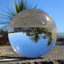 90mm Juggle Dream Crystal Clear Acrylic Contact Juggling Ball