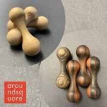 AroundSquare Knucklebone Wood