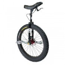 "Qu-Ax QX Muni 24"" Disc Brake Unicycle - Q-AXLE - WHITE FRAME MODEL"