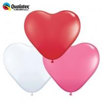 """Qualatex 6"""" Heart Balloon Assortment"""